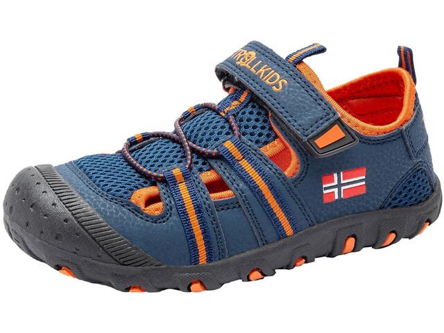 TROLLKIDS Sandefjord Sandalias Niños, mystic blue/orange